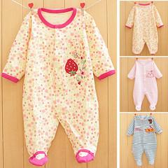 春秋纯棉婴儿连体衣男女宝新生儿衣服长袖哈衣爬服童服装0-1岁