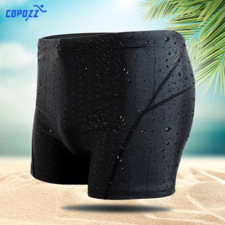 COPOZZ游泳裤男平角五分时尚款泡温泉男士大码鲨鱼皮速干泳衣装备