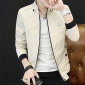 男士 休闲修身 韩版 外套男装 2017新款 夹克薄款 青年潮流春秋季上衣服