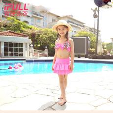 宜肤儿童泳衣女宝宝分体游泳衣中大童公主女孩韩国裙式泳装