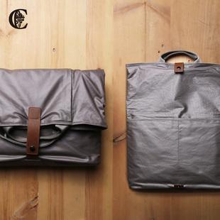 男包休闲手提包 个性时尚潮流斜跨包 帆布单肩包邮差包 14寸电脑
