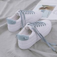 白鞋 女韩版 学生百搭2018春季新款 文艺清新平底小白鞋 夏季透气板鞋