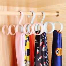 3个装五环多功能围巾架丝巾架家用收纳整理领架皮带袜子挂架衣架