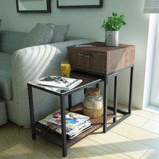 客厅沙发边几扶手柜北欧简约现代小茶几侧边桌茶桌小户型角几边柜