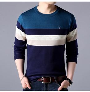 花花公子春季新款男装加绒长袖t恤 韩版圆领修身男士打底衫