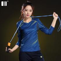 长袖 单双号秋季新款 羽毛球服女款 速干上衣羽毛球服运动服网球服女