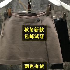 地素戴诺半身裙2016秋装新款代购百搭黑色皮裙短裙a字裙女2M3S215