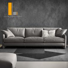 丽林家具北欧真皮沙发大户型头层牛皮现代简约组合沙发客厅整装