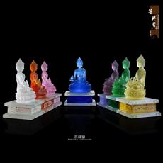 琉璃佛像琉璃药师佛药师七佛风水摆件家居摆件 琉璃佛像摆件