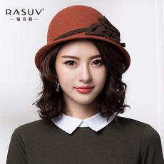 帽子女冬渔夫盆帽礼帽毡帽甜美可爱百搭韩版英伦女士纯羊毛呢秋帽