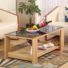特价简约现代茶几 宜家钢化玻璃实木茶几小桌子咖啡桌小户型客厅