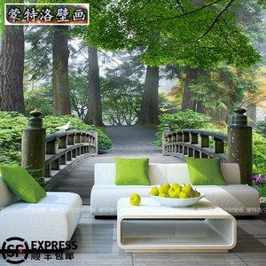 3d立体风景墙纸图片