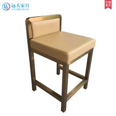 珠宝椅珠宝店凳子不锈钢吧台椅酒吧椅凳子靠背前台高凳收银台椅子
