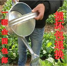 园艺工具 浇花壶洒水壶工具浇水浇菜大号 铁皮不锈钢花纹喷壶