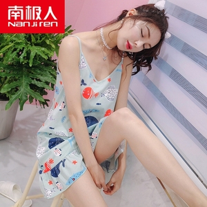 南极人品牌睡衣夏季女士纯棉吊带睡裙可爱女生韩版全棉背心家居服