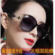 式防晒中年防紫外线夏季时尚 遮阳镜女墨镜女妈妈款 大脸显瘦太阳镜