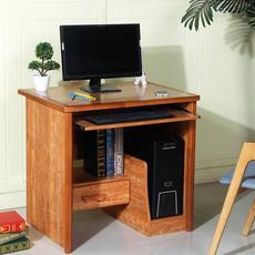 80cm电脑桌台式机家用  实木边框电脑台带抽屉小户型卧室书房家具