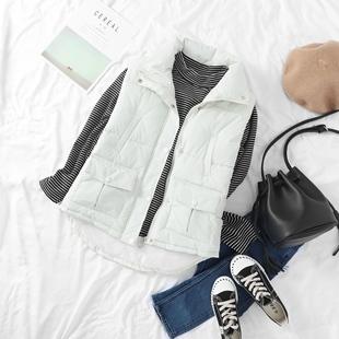 11岁12大童13少女孩冬装羽绒棉服马甲15初高中学生韩版棉衣袄背心