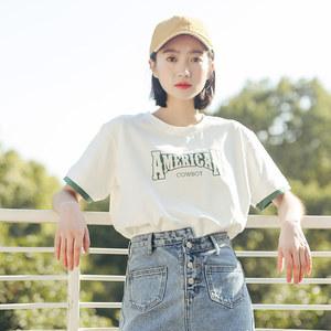 白色t恤女短袖春装2018新款学生宽松韩版ulzzang衣服百搭半袖上衣女装T恤