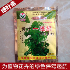 黄叶一遍绿黄叶一喷绿小叶卷叶花叶病叶青斑药剂绿叶素花营养肥料