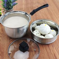 野虎304不锈钢奶锅迷你小锅子煮牛奶锅 加厚不粘锅热奶锅婴儿辅食