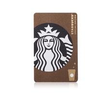 星巴克Starbucks2017秋季特别款咖啡色经典女神logo星享卡会员卡