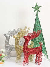 Christmas Deer Christmas Elk Christmas Reindeer Iron Shopping Mall Hotel Window Arrangement Scene Decorations