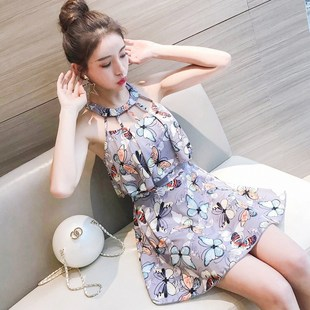 Bathing dress girl's body looks thin conservative dress styl
