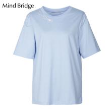 Mind Bridge短袖T恤衫百家好女装2019夏季新品女士上衣 MTTS321F