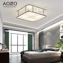 奥朵美式后现代LED水晶吸顶灯简约现代主卧灯温馨浪漫家用房间灯