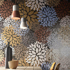 花卉艺术水晶玻璃马赛克拼图卫生间瓷砖壁画玄关过道背景墙装饰