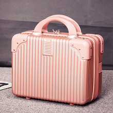 Retro Mini suitcase, 14 inch makeup case, wedding dowry travel box, makeup bag, boarding luggage, female luggage