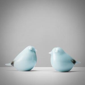 禅意新中式陶瓷摆件小鸟创意<span class=H>家居</span>样板间软装博古架玄关摆设装饰品