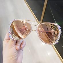偏光太阳镜进口奥钻水钻防晒防辐射偏光矩镜女2018新款 韩版 时尚