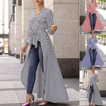 ve Work Shirts Women office Tops Striped Blouse for Business