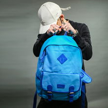 易秀新款糖果色帆布双肩包女韩版时尚学生书包运动休闲背包