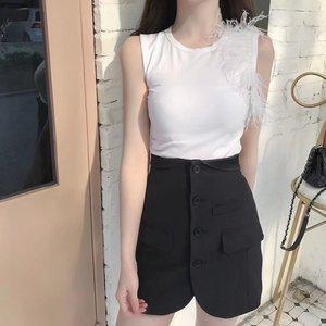 iBetter家腔调女装名媛设计感小腰封排扣口袋半身裙包臀显瘦百搭