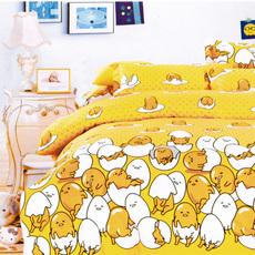 蛋黄人全棉儿童1.2m防滑床笠床罩纯棉1.5米1.8薄棕垫保护套定做