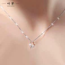 叶芊珠宝 PT990 铂金项链女 白金吊坠 锁骨 铂金吊坠 白金项链