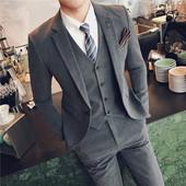 男装 套装 商务休闲结婚西服礼服影楼小码 新款 西装 英伦风纯色时尚