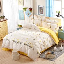 全棉四件套全棉被套床单 1.8m/1.5m100%斜纹纯棉高支高密床上用品