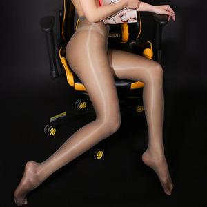 性感油光发亮开裆连裤袜情趣诱惑骚高跟黑丝透明丝滑高腰美腿丝袜