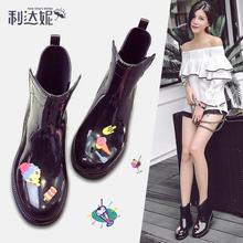 时尚中筒女士马丁雨靴2018新款低帮雨鞋女生防滑水鞋韩版套鞋胶鞋
