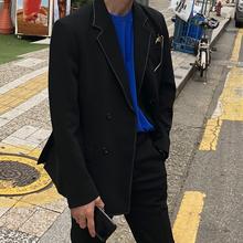双排扣西服男休闲西装 ins小西装 西装 外套秋 韩版 男套装