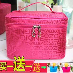 可爱旅行可爱化妆包收纳包洗漱包化妆箱大容量便携折叠小号收纳包