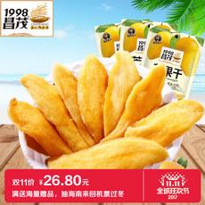 海南特产昌茂 芒果干 休闲零食蜜饯果脯芒果片100gX3袋