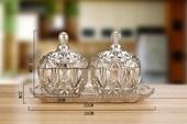 欧式储物罐干果罐糖果盅礼物家居装 彩色玻璃糖罐 饰创意玻璃器皿
