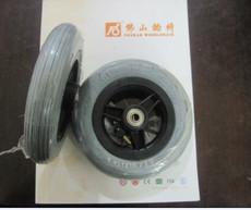 轮椅前轮,充气轮6寸轮子,6寸充气轮,实心轮