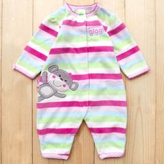 婴儿服连体衣外套春秋装女宝宝长袖哈衣新生儿衣服装用品 0-1岁女