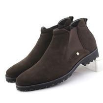 英伦套筒磨沙皮单鞋 男式高帮休闲皮鞋 真皮时尚 新款 男鞋